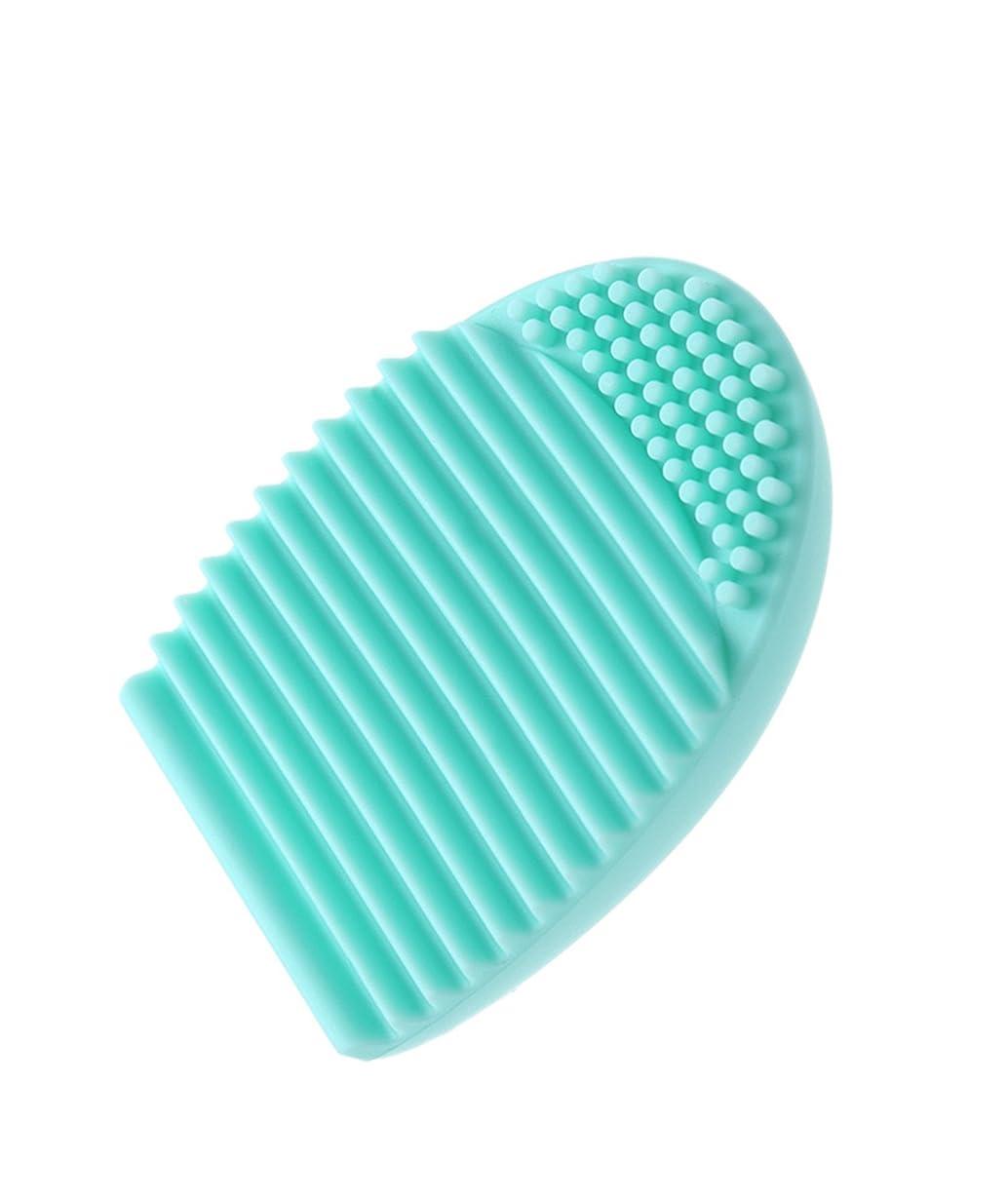 木曜日臭いポジションノーブランド 化粧ブラシ クリーニング 手袋 メイクブラシクリーナー 洗濯板 シリコン 化粧筆清潔 雑貨 旅行 清掃ブラシ 可愛い 明るい 水色