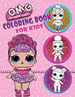 O.M.G. Glamour Squad: Coloring Book For Kids: 150 High Quality Pages (04)