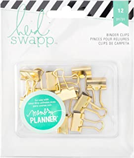 Heidi Swapp 312568 12 Piece Memory Planner Binder Clips with Gold Foil Finish