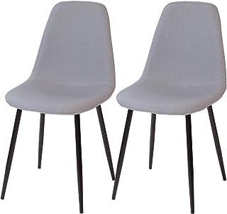 Albatros Bari Set de 2 Retro sillas de Comedor Gris, SGS Probado