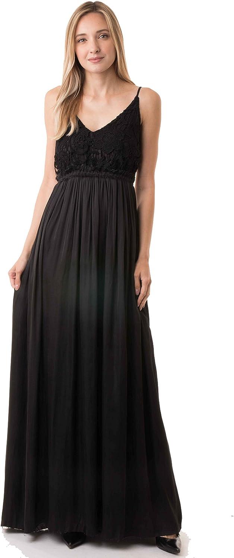 Ijoah Sleeveless Tank Lace Open Back TOP Long Dress