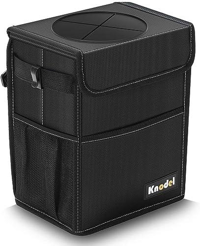 Poubelle de Voiture Knodel, Sac à ordures Automatique étanche avec Couvercle, Sac de Rangement de Voiture étanche, Sa...
