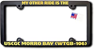 My Other Ride USCGC MORRO BAY (WTGB-106) License Frame w/REFLECTIVE GOLD TEXT