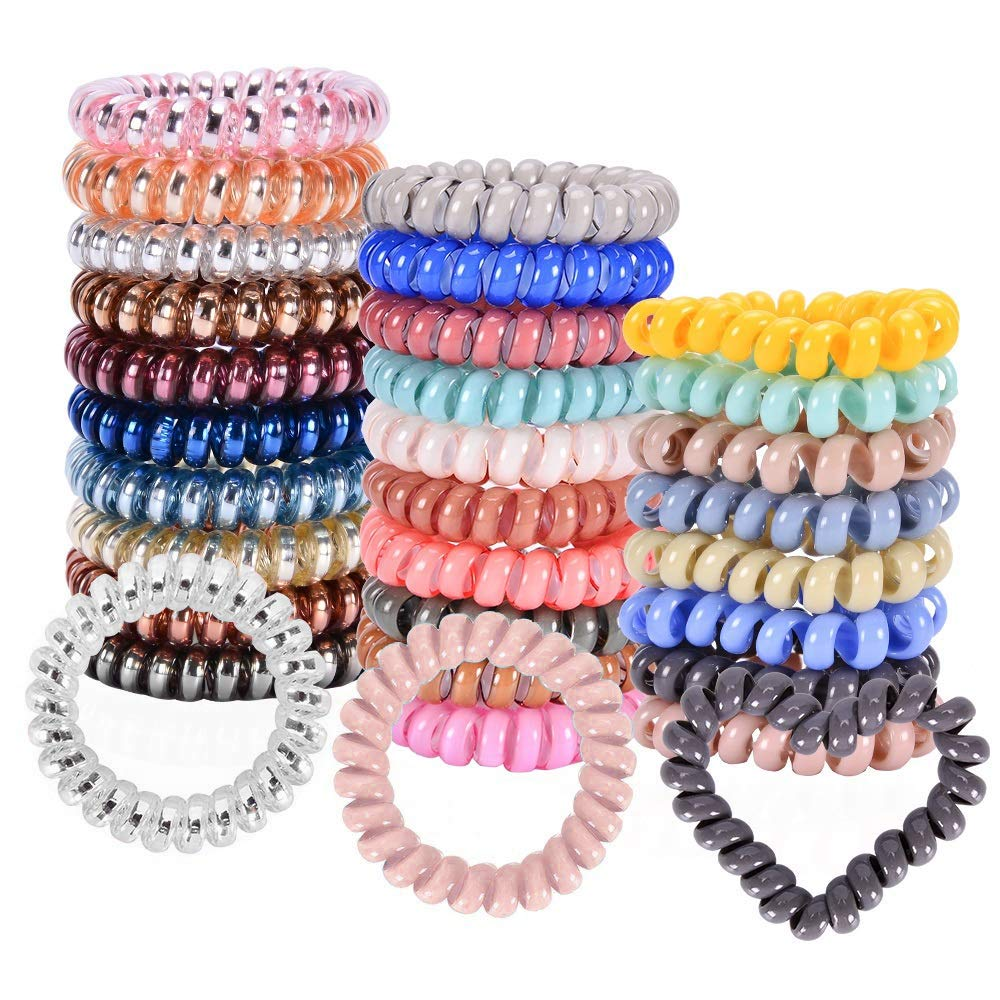 28 Pcs Spiral Hair Ties No Coils Coil 100% quality warranty! Dealing full price reduction P Crease