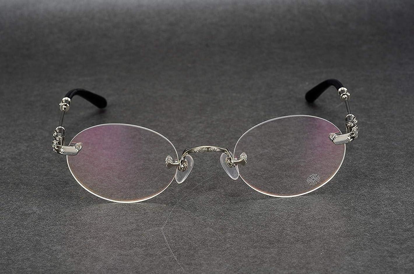 控えめなあえてエラー近視眼の男性と女性の正方形の円形の円形のためのフレーム眼鏡を持っていない