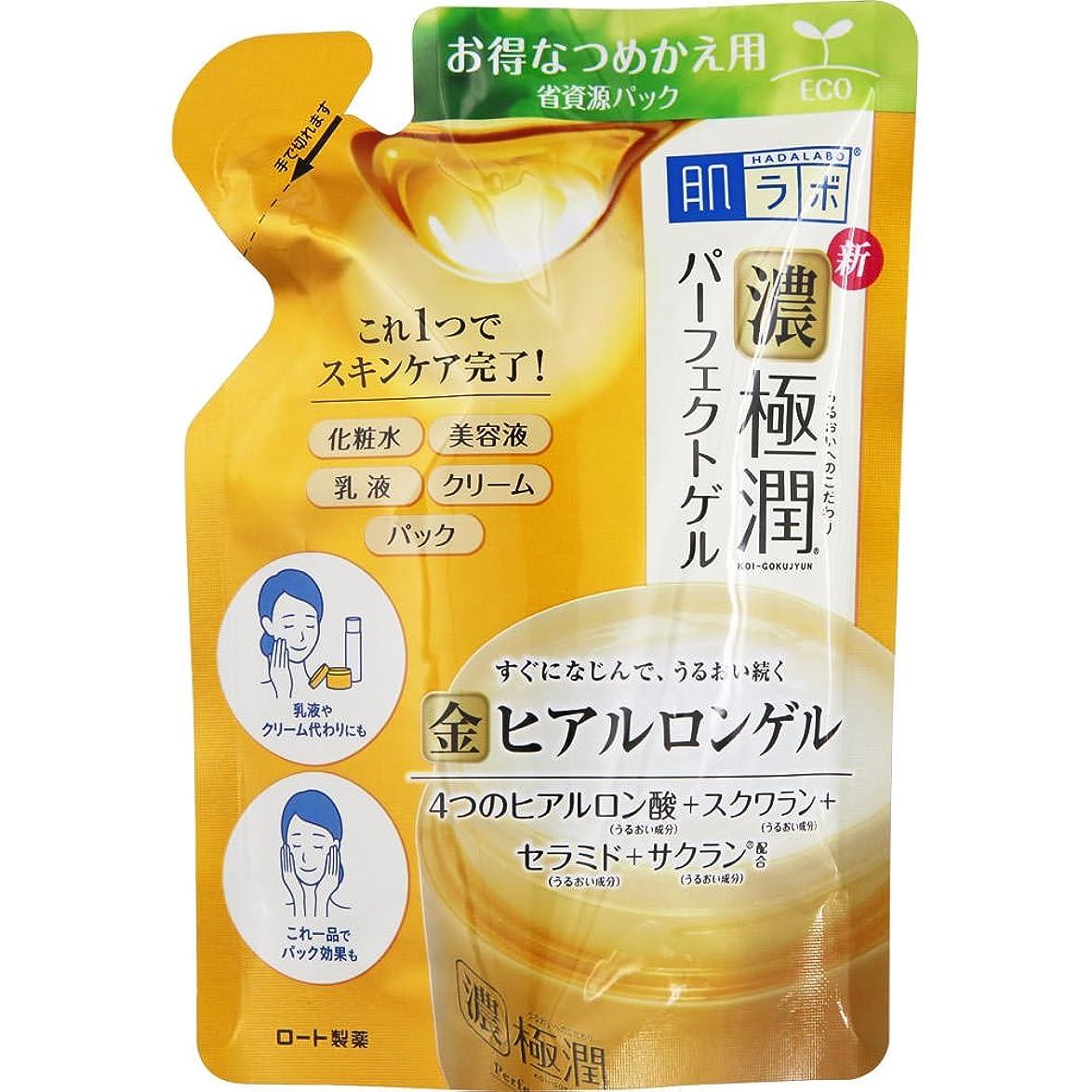 単に告白感じ肌ラボ 濃い極潤 オールインワン パーフェクトゲル 4つのヒアルロン酸×スクワラン×セラミド×サクラン配合 詰替用 80g