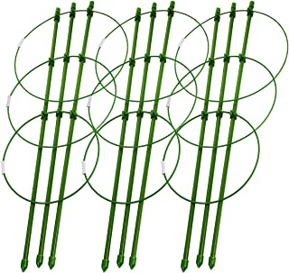 Sunnyglade Plant Support Cages 18 Inches Plant Cages with 3 Adjustable Rings, Pack of 3 (18