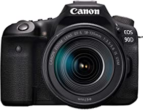 Canon 90DSK Digital Camera - SLR Canon EOS 90D DSLR with EFS 18-135mm f/3.5-5.6mm is STM Lens, Black (90DSK)