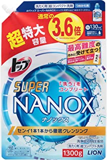 【大容量】トップ スーパーナノックス 洗濯洗剤 液体 詰め替え 超特大1300g
