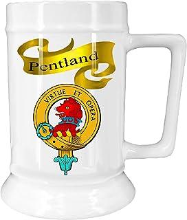 Scottish Clan Pentland on New Ceramic Beer Stein
