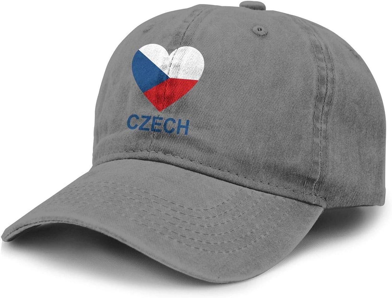 Love Czech Adult Curved Brim Baseball Hat Sports Cowboy Cap