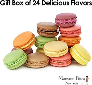 French Macarons Gift Box - 24 Assorted Macarons
