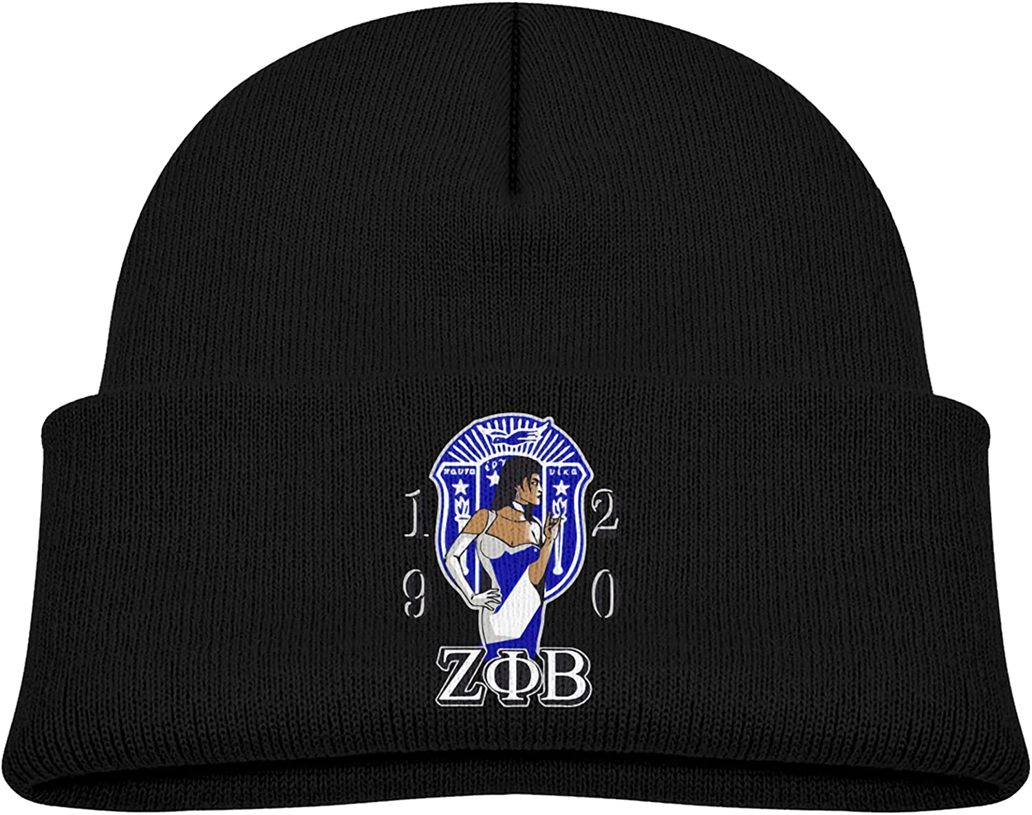 Zeta Phi Beta Child Kid Selling and selling Boy Girl Winter Outdoor security Beanie Cap Slouc