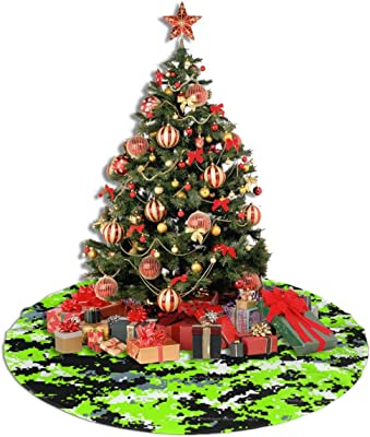Amazon Com Sbbrccgf Laurel Tree Background Christmas Tree Skirt Xmas Holiday Decoration Home Party Trees Dress Ornaments Home Kitchen