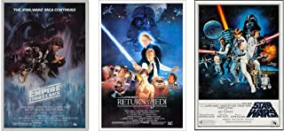 Star Wars Original Trilogy Classics Posters, 3 Full Size Posters, Size Each 24x36