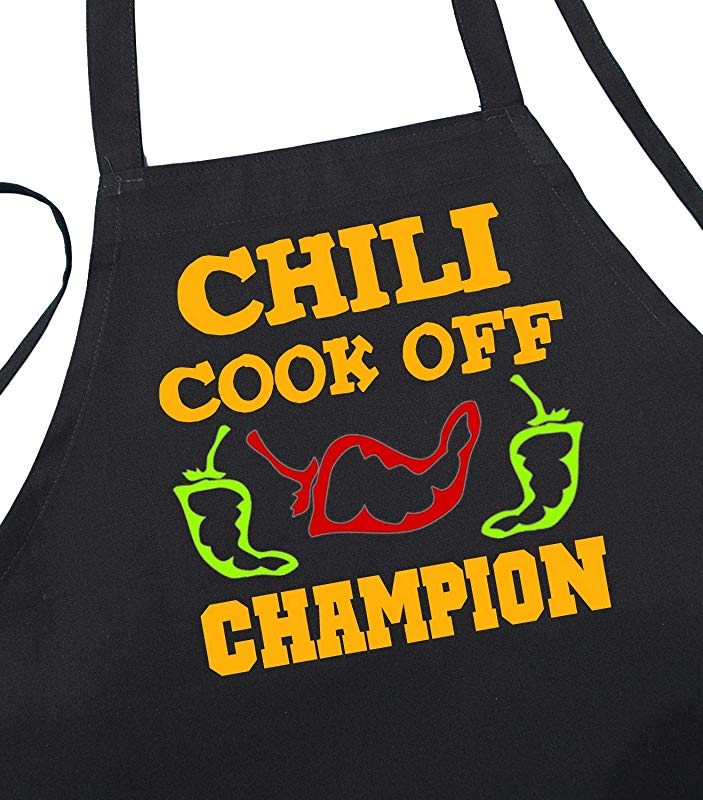 Chili Cook Off Champion Black Apron For Winning Prize