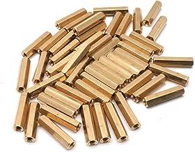 Yootop 50Pcs Brass Female Hex Standoff Threaded Pillar Spacer Nut M3x20mm