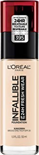 L'Oreal Paris Cosmetics 071249408094 L'Oreal Paris Makeup Infallible Up to 24 Hour Fresh Wear Foundation, All-day Staying Power meets Lightweight, Breathable Coverage, Rose Pearl, 1 oz.