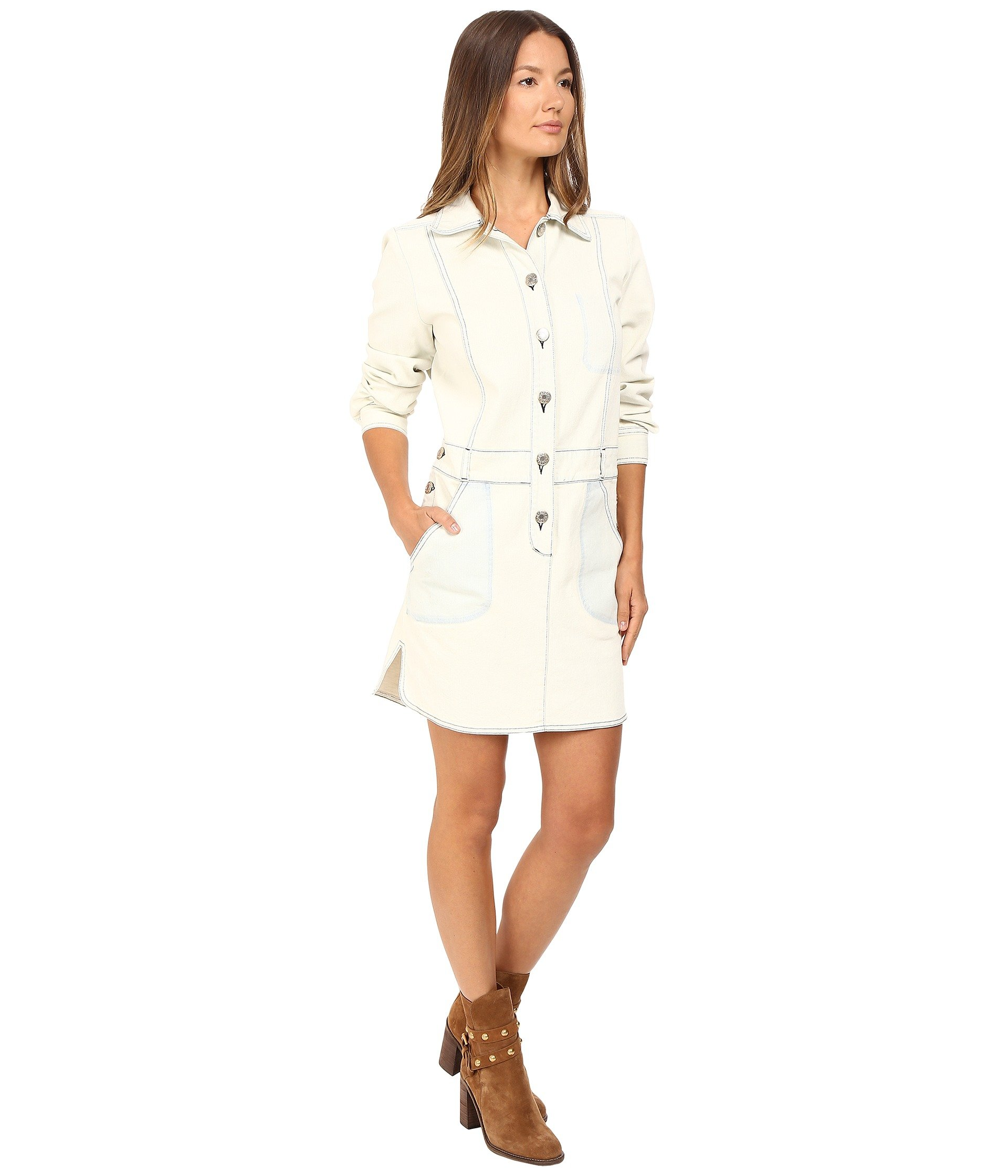 See By Chloe Denim Button Down Dress At 6pm