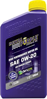 Royal Purple 06020-6PK API-Licensed SAE 0W-20 High Performance Synthetic Motor Oil - 1 qt. (Case of 6)