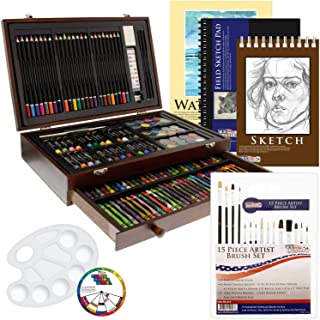 US Art Supply 162 Piece-Deluxe Mega Wood Box Art, Painting & Drawing Set That..
