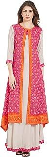 Kvsfab Multi Soft Silk & Rayon printed Gown Kurta[KVSKR285_RVZ]