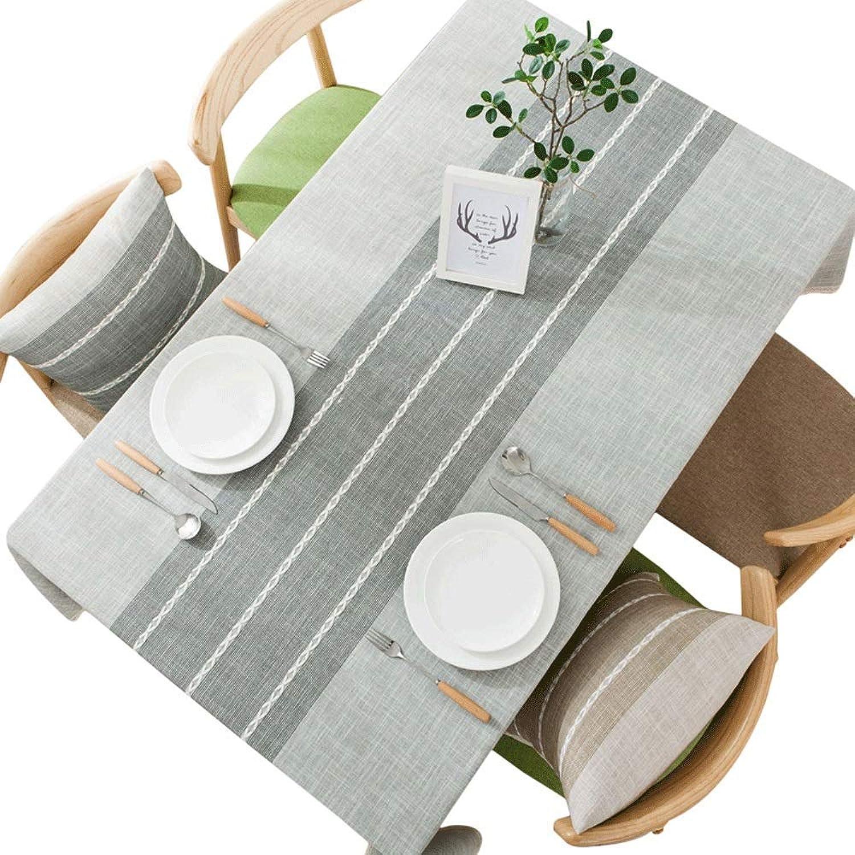 Oevino Nordic Leinen Staubdicht Tischdecke Rechteckigen Wohnzimmer Couchtisch Tischdecke Garten Party Tischdekoration Tuch (Size   130x180cm)