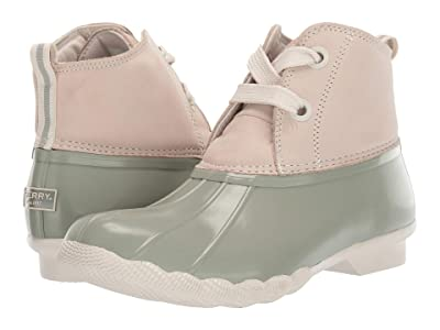 Sperry Saltwater 2-Eye Nubuck (Ivory/Sage) Women