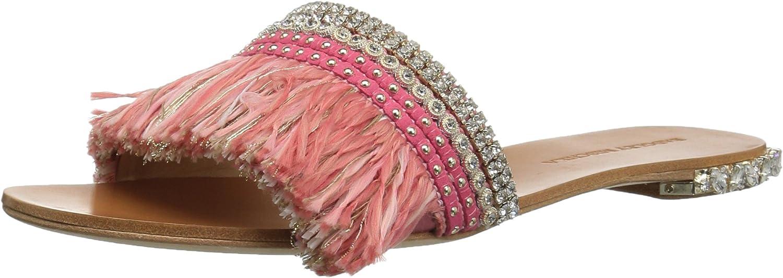 Badgley Mischka Womens Sharlene Flat Sandal