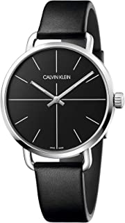 Calvin Klein Unisex Adult Analogue-Digital Quartz Watch with Leather Strap K7B211CZ