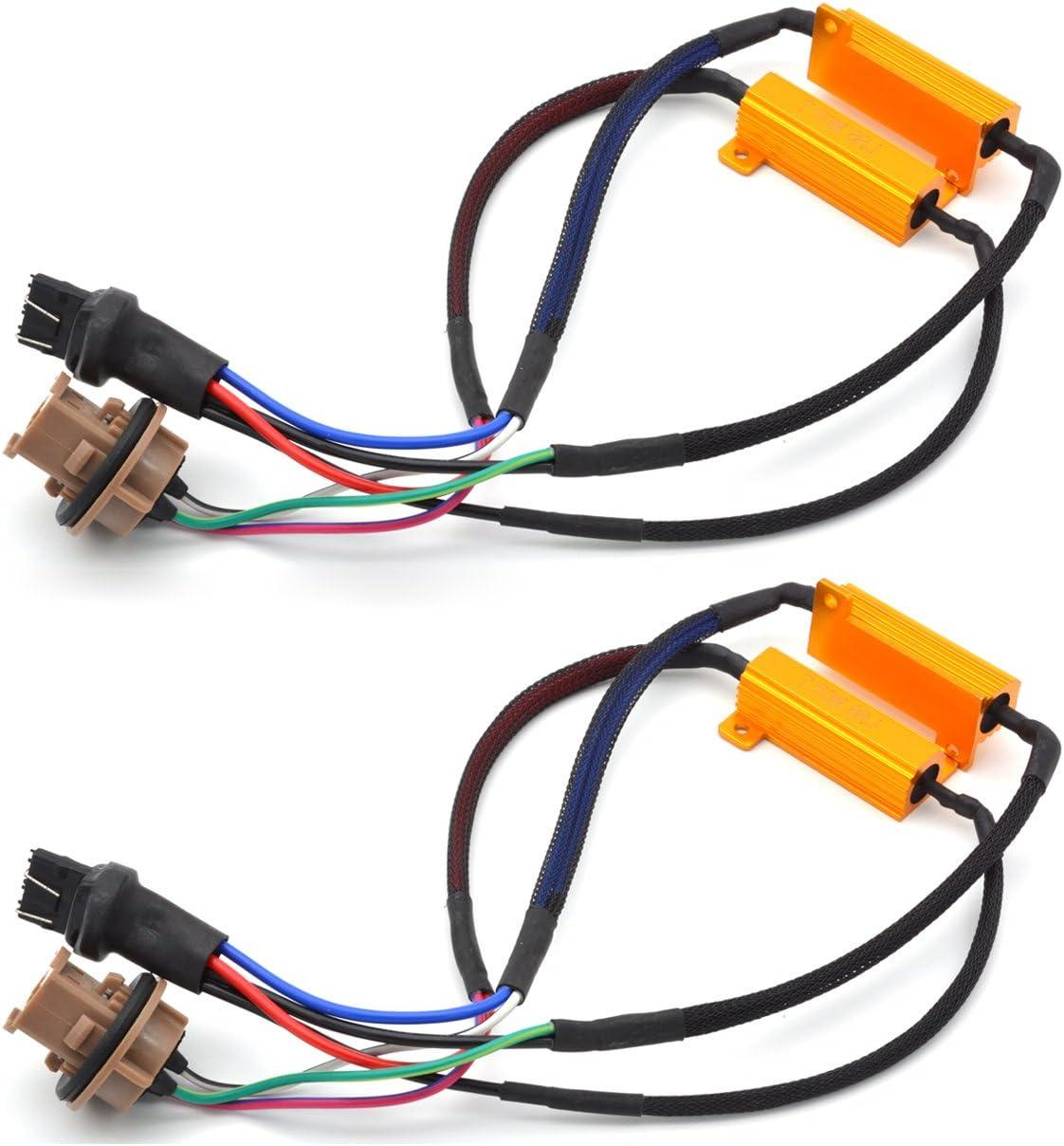 KATUR quality assurance 2pcs 50W 8ohm 7443 7444NA Led Fix Resistors Load LED Elegant - Bul