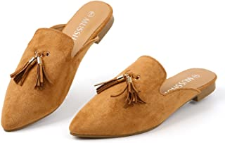 Sponsored Ad - MUSSHOE Mules for Women Slip On Women's Flats Comfortable Closed Pointed Toe Backless Loafers Women's Mules...