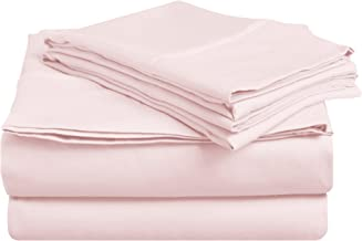 Superior 100% Premium Combed Cotton, Deep-Fitting Pocket Soft and Smooth 4 Piece Sheet and Pillowcase Cover Set, California King - Pink