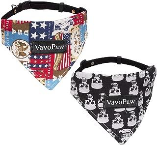 VavoPaw Dog Cat Bandana Collar, [2 Pack] Adjustable Pet Bibs Cute Neckerchief Dog Cat Puppy Triangle Scarf Collar