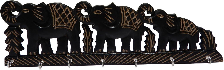 PMK Wooden Key Holder Elephant Design, color Key Hangers, Wall Key