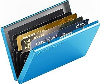 Card Genie Tarjetero Hombre RFID – Tarjetero Metálico RFID Bloqueo con 6 Compartimentos para tus Tarjetas de Crédito Débito DNI – Cartera Tarjetero Fina Ideal para tu Bolsillo - Azul