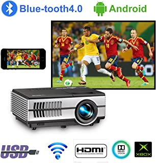 LED Mini Wireless Bluetooth HDMI Projector Portable Home Theater Smart Android WiFi Projectors Multimedia Outdoor Movie Pa...