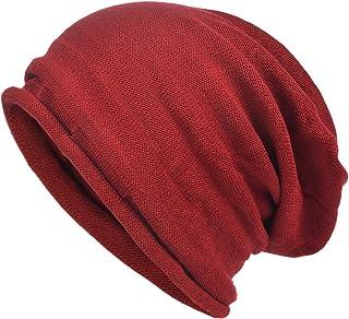 3c991d6211a VECRY Men s Cool Cotton Beanie Slouch Skull Cap Long Baggy Hip-hop Winter  Summer Hat