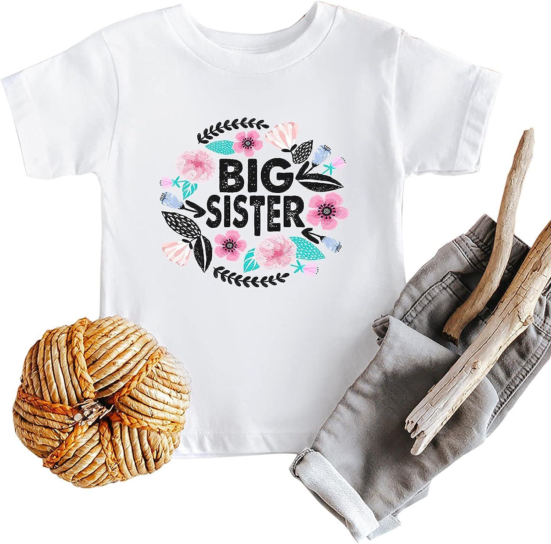 IOEGW Kid's Big Sister T-Shirt Funny Big Sister Announcement Gifts Shirt Cute Sister Siblings Matching Tee Tops