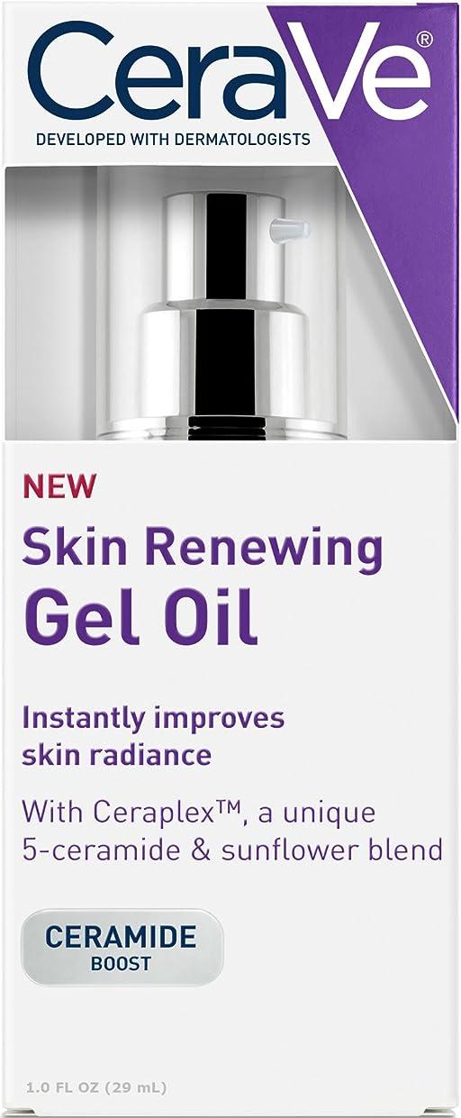楽観王女飼料CeraVe Skin Renewing Gel Oil Face Moisturizer to Improve Skin Radiance - 1oz セラヴィ スキンリニューアルジェルオイル