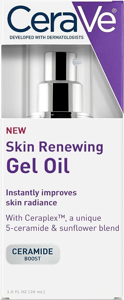 サポート満足させる半導体CeraVe Skin Renewing Gel Oil Face Moisturizer to Improve Skin Radiance - 1oz セラヴィ スキンリニューアルジェルオイル