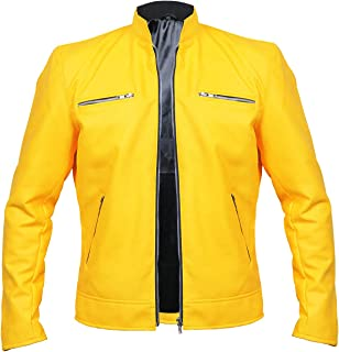 Aus Eshop Mens Dirk Gentlys Holistic Detective Agency Samuel Barnett Faux Leather Jacket