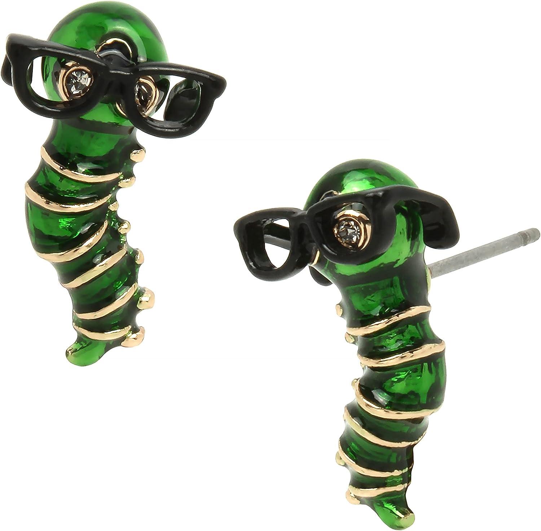 Betsey Johnson Bookworm Stud Earrings