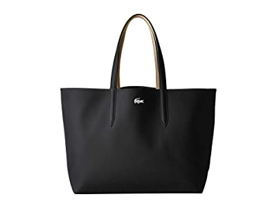 Lacoste Anna Large Reversible Shopping Bag (Black Warm Sand) Handbags