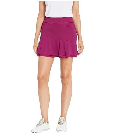 adidas Golf Ultimate365 Knit Frill Skort (Power Berry) Women