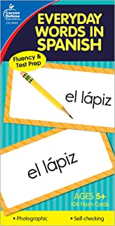 Carson Dellosa   Everyday Words in Spanish Flash Cards   All Ages, 104ct