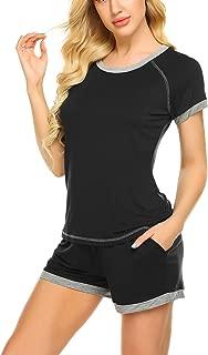 Women's Shorts Pajama Set Short Sleeve Cotton Sleepwear Cute Nightwear Pjs S-XXL