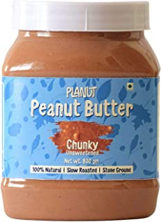Planut Chemical Free Peanut Butter, Chunky, Unsweetened, 830g | All-natural, High Protein