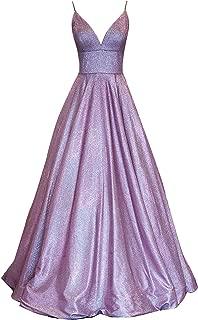 Women's Long Glitter Satin Prom Party Dress Evening Gowns Sh68