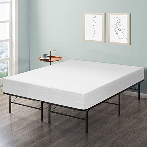 Best Price Mattress 10-Inch Memory Foam Mattress and Bed Frame Set, Queen